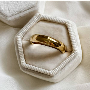 Gold Classic Medium Width Band Ring